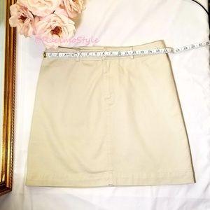 Gap, Retro Cut, 100% cotton, khaki skirt, size 6